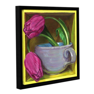 Brushstone Tea & Tulips Gallery Wrapped Floater-Framed Canvas Wall Art