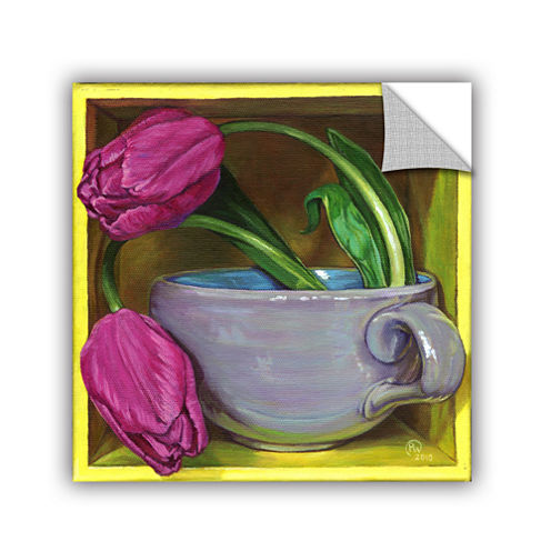 Brushstone Tea & Tulips Removable Wall Decal