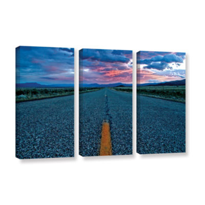 Brushstone US 91 3-pc. Gallery Wrapped Canvas Set