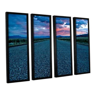 Brushstone US 91 4-pc. Floater Framed Canvas Set