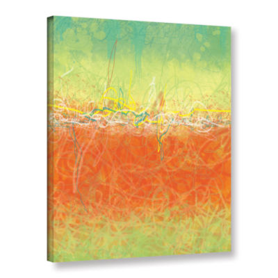 Brushstone Textured Earth Gallery Wrapped Canvas Wall Art
