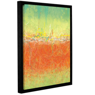 Brushstone Textured Earth Gallery Wrapped Floater-Framed Canvas Wall Art