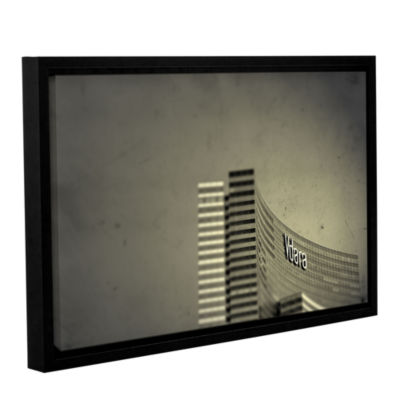 Brushstone Vdara Gallery Wrapped Floater-Framed Canvas Wall Art