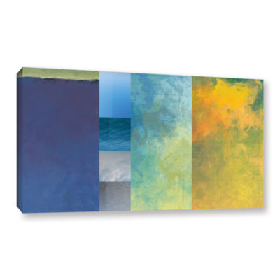 Brushstone Textured Earth Panel I Gallery WrappedCanvas Wall Art