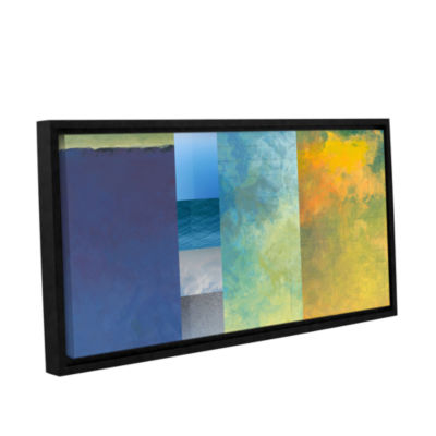 Brushstone Textured Earth Panel I Gallery WrappedFloater-Framed Canvas Wall Art