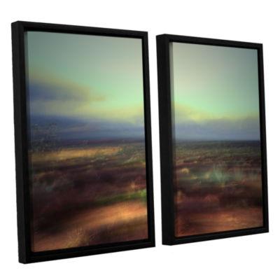Brushstone Washed Away 2-pc. Floater Framed CanvasWall Art