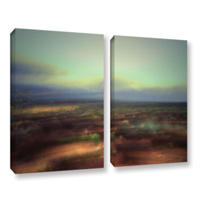 Brushstone Washed Away 2-pc. Gallery Wrapped Canvas Wall Art