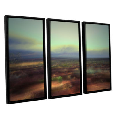 Brushstone Washed Away 3-pc. Floater Framed CanvasWall Art