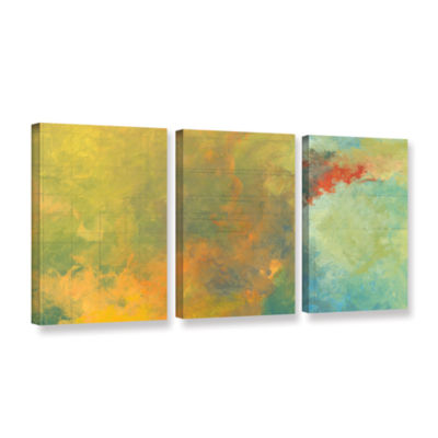 Brushstone Textured Earth Panel II 3-pc. Gallery Wrapped Canvas Wall Art