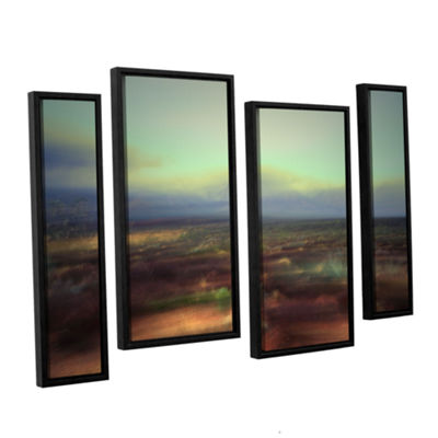 Brushstone Washed Away 4-pc. Floater Framed Staggered Canvas Wall Art