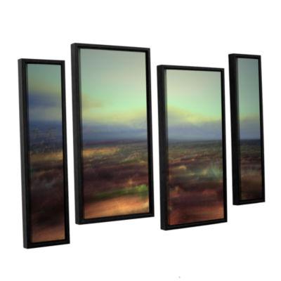 Brushstone Washed Away 4-pc. Floater Framed CanvasStaggered Set