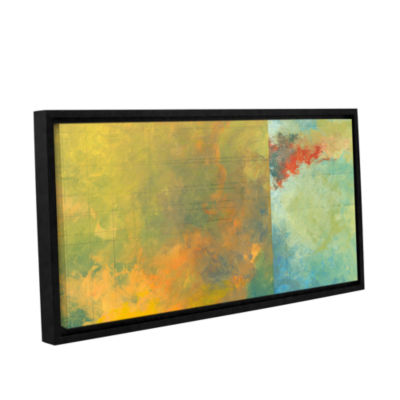Brushstone Textured Earth Panel II Gallery WrappedFloater-Framed Canvas Wall Art