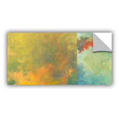 Brushstone Textured Earth Panel II Removable WallDecal