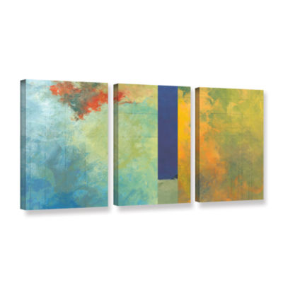 Brushstone Textured Earth Panel III 3-pc. GalleryWrapped Canvas Wall Art