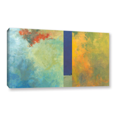 Brushstone Textured Earth Panel III Gallery Wrapped Canvas Wall Art
