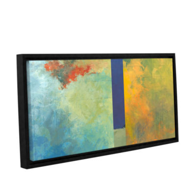 Brushstone Textured Earth Panel III Gallery Wrapped Floater-Framed Canvas Wall Art
