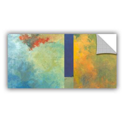 Brushstone Textured Earth Panel III Removable WallDecal