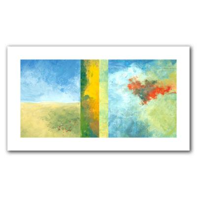 Brushstone Textured Earth Panel IV Canvas Wall Art
