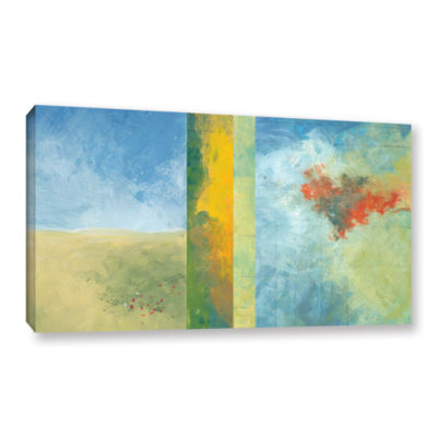 Brushstone Textured Earth Panel IV Gallery WrappedCanvas Wall Art