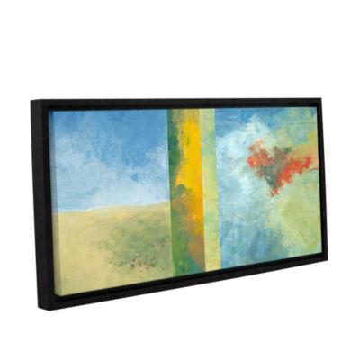 Brushstone Textured Earth Panel IV Gallery WrappedFloater-Framed Canvas Wall Art