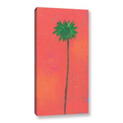 Brushstone Tangerine Palm Gallery Wrapped Canvas Wall Art