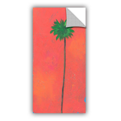 Brushstone Tangerine Palm Removable Wall Decal