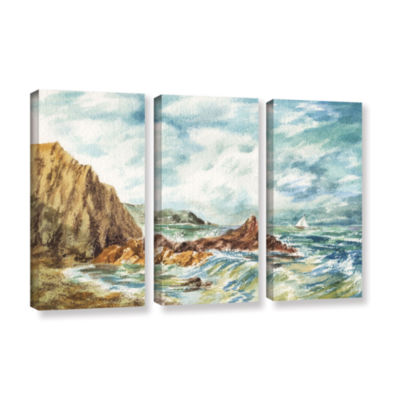 Brushstone Vintage Storm 3-pc. Gallery Wrapped Canvas Set