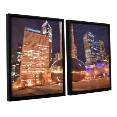 Brushstone The Bean I 2-pc. Floater Framed CanvasWall Art