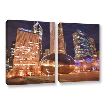 Brushstone The Bean I 2-pc. Gallery Wrapped CanvasWall Art