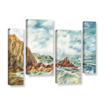 Brushstone Vintage Storm 4-pc. Gallery Wrapped Canvas Staggered Set