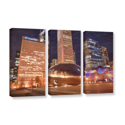 Brushstone The Bean I 3-pc. Gallery Wrapped CanvasWall Art