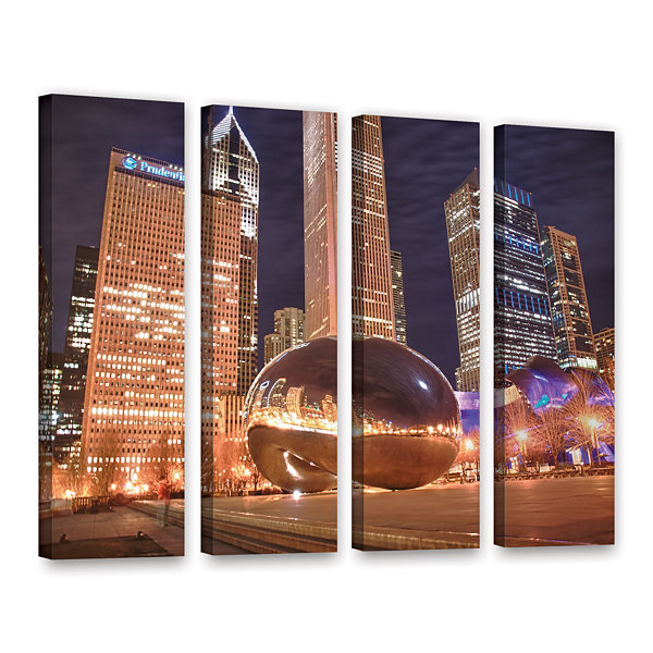 Brushstone The Bean I 4-pc. Gallery Wrapped CanvasWall Art