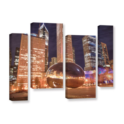 Brushstone The Bean I 4-pc. Gallery Wrapped Staggered Canvas Wall Art