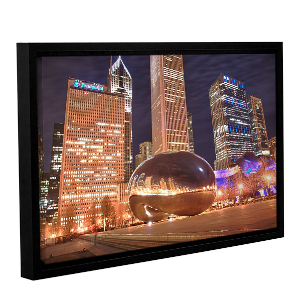 Brushstone The Bean I Gallery Wrapped Floater-Framed Canvas Wall Art
