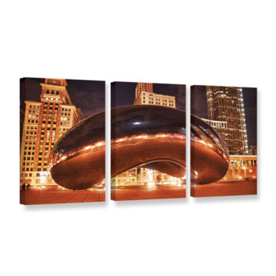Brushstone The Bean II 3-pc. Gallery Wrapped Canvas Wall Art