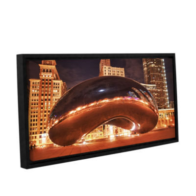 Brushstone The Bean II Gallery Wrapped Floater-Framed Canvas Wall Art