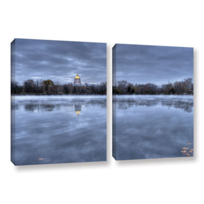 Brushstone The Basilica-Notre Dame 2-pc. Gallery Wrapped Canvas Wall Art