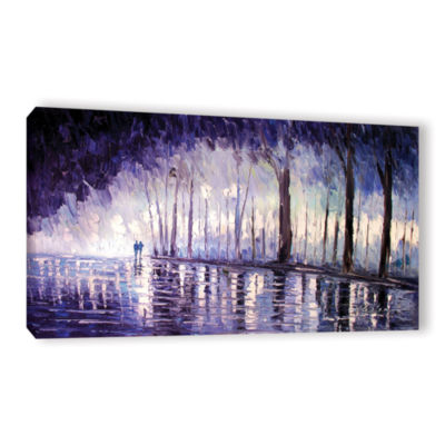 Brushstone Ultra Violet Gallery Wrapped Canvas Wall Art