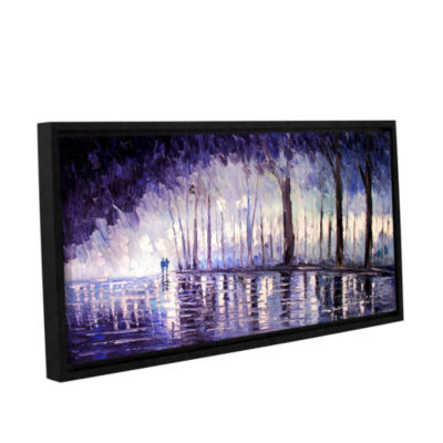 Brushstone Ultra Violet Gallery Wrapped Floater-Framed Canvas Wall Art