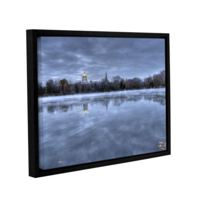 Brushstone The Basilica-Notre Dame Gallery WrappedFloater-Framed Canvas Wall Art
