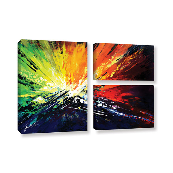 Brushstone Vibrance 2 3-pc. Gallery Wrapped CanvasFlag Set