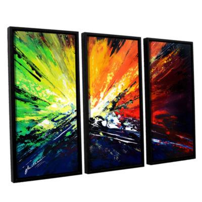 Brushstone Vibrance 2 3-pc. Floater Framed CanvasWall Art