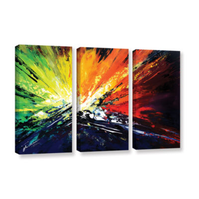 Brushstone Vibrance 2 3-pc. Gallery Wrapped CanvasSet