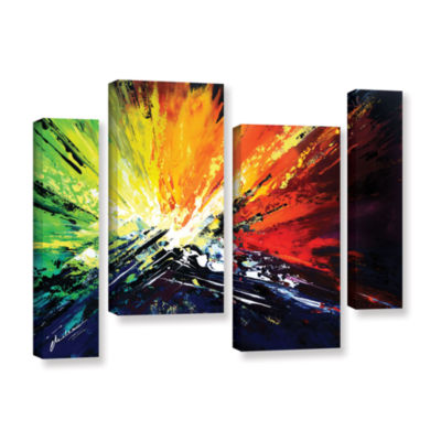 Brushstone Vibrance 2 4-pc. Gallery Wrapped Staggered Canvas Wall Art