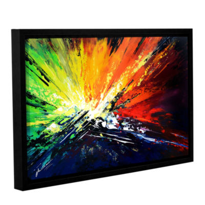 Brushstone Vibrance 2 Gallery Wrapped Floater-Framed Canvas Wall Art