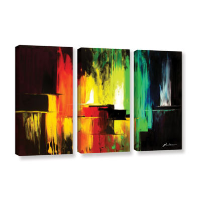 Brushstone Vibrance 3-pc. Gallery Wrapped Canvas Wall Art