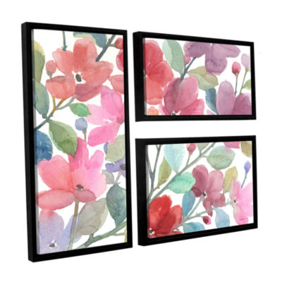 Brushstone The Colors Of Spring 3-pc. Flag Floater Framed Canvas Wall Art