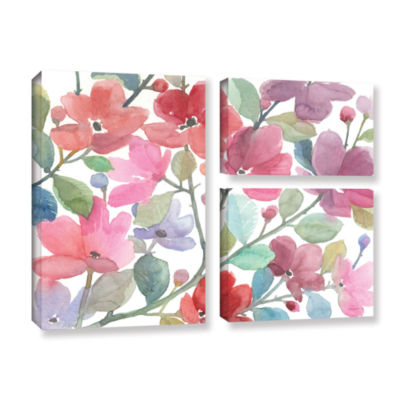 Brushstone The Colors Of Spring 3-pc. Flag Gallery Wrapped Canvas Wall Art