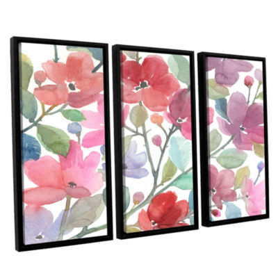 Brushstone The Colors Of Spring 3-pc. Floater Framed Canvas Wall Art