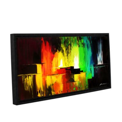 Brushstone Vibrance Gallery Wrapped Floater-FramedCanvas Wall Art